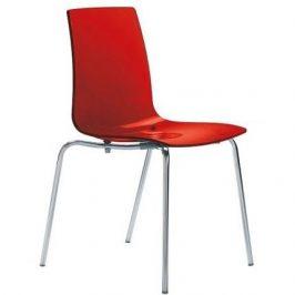 SitBe Červená transparentní židle Last