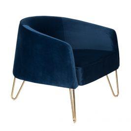 Modré sametové lounge křeslo Bold Monkey Queenalicious