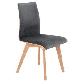 Nordic Design Tmavě šedá čalouněná jídelní židle Runny