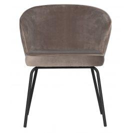 Hoorns Khaki sametová jídelní židle Millie