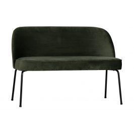 Hoorns Tmavě zelená sametová jídelní lavice Tergi