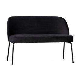 Hoorns Inkoustově černá sametová jídelní lavice Tergi