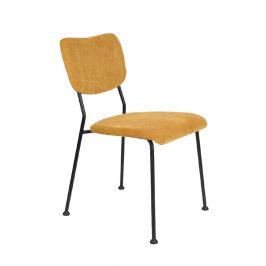 Okrová čalouněná židle ZUIVER BENSON