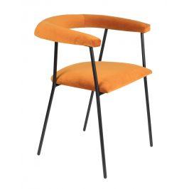 Světle oranžová jídelní židle DUTCHBONE Haily