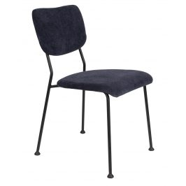 Tmavě modrá čalouněná židle ZUIVER BENSON