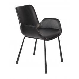 Černá čalouněná jídelní židle ZUIVER BRIT LL