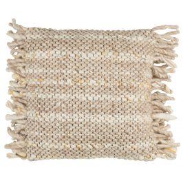 Béžový pletený polštář ZUIVER FRILLS Polštáře