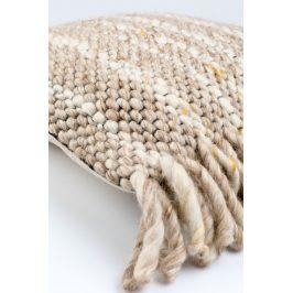 Béžový pletený polštář ZUIVER FRILLS