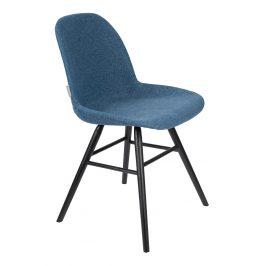 Modrá čalouněná jídelní židle ZUIVER ALBERT KUIP