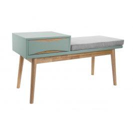 Time for home Mentolově zelená lavice Valentino s úložným prostorem