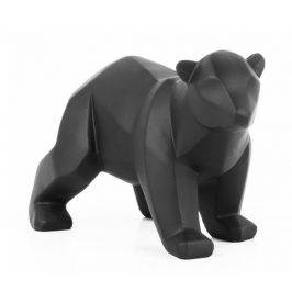 Time for home Černá dekorativní soška Origami Bear S