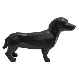 Time for home Černá dekorativní soška Origami Dog