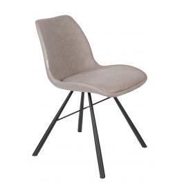 Šedá čalouněná jídelní židle ZUIVER BRENT