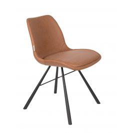 Hnědá čalouněná jídelní židle ZUIVER BRENT