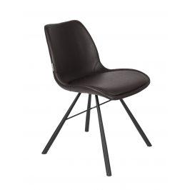 Černá čalouněná jídelní židle ZUIVER BRENT