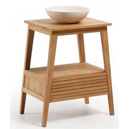 Dřevěný stolek s terazzovým umyvadlem LaForma Sunday 70 x 50 cm
