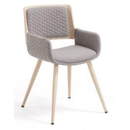 Šedá čalouněná jídelní židle LaForma Andre