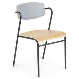 Šedá dřevěná jídelní židle LaForma Casper