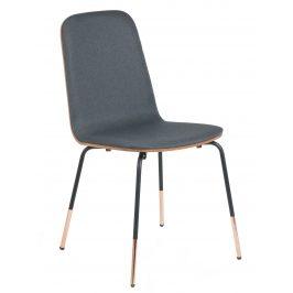 Tmavě šedá čalouněná jídelní židle LaForma Chrystel