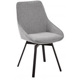 Světle šedá čalouněná jídelní židle LaForma Haston