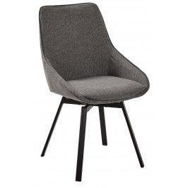 Tmavě šedá čalouněná jídelní židle LaForma Haston