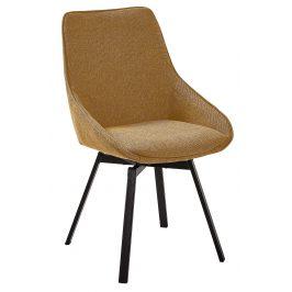 Hořčicově žlutá čalouněná jídelní židle LaForma Haston