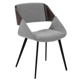 Světle šedá čalouněná jídelní židle LaForma Herrick