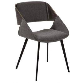 Tmavě šedá čalouněná jídelní židle LaForma Herrick