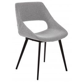 Světle šedá čalouněná jídelní židle LaForma Hest