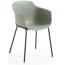 Šedá plastová jídelní židle LaForma Khasumi