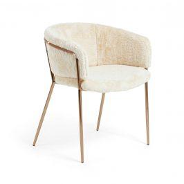 Bílá čalouněná jídelní židle LaForma Konnie