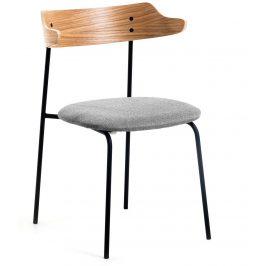 Světle šedá čalouněná jídelní židle LaForma Olympia