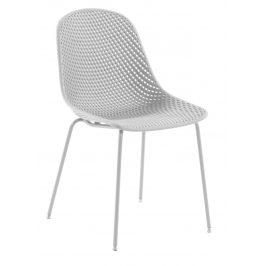 Bílá plastová jídelní židle LaForma Quinby