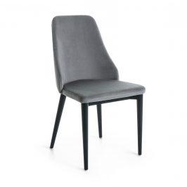 Šedá sametová jídelní židle LaForma Roxie