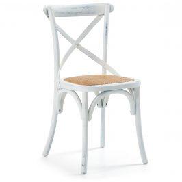 Bílá dřevěná jídelní židle LaForma Silea