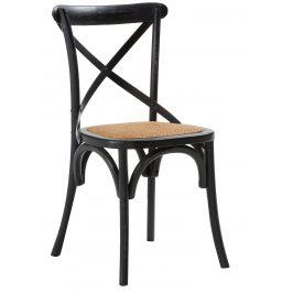 Černá dřevěná jídelní židle LaForma Silea