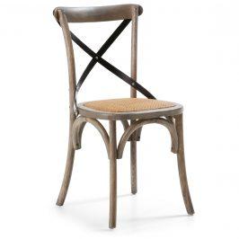 Hnědá dřevěná jídelní židle LaForma Silea
