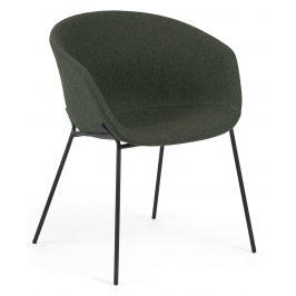 Zelená čalouněná jídelní židle LaForma Zadine