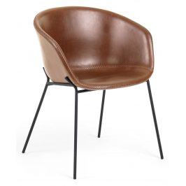 Hnědá čalouněná jídelní židle LaForma Zadine