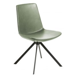 Zelená kožená jídelní židle LaForma Zast