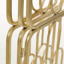 Zlatý kovový paravan LaForma Dai