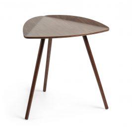 Tmavý dřevěný odkládací stolek LaForma Damaris 45 cm