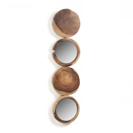 Dřevěné nástěnné zrcadlo LaForma Enkel