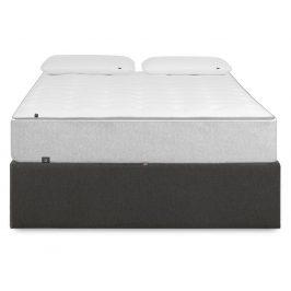 Tmavě šedá čalouněná postel LaForma Matters 180x200 cm