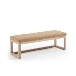 Přírodní světle hnědá čalouněná lavice LaForma Yola