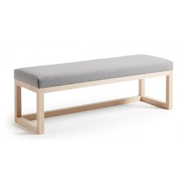 LaForma Šedá čalouněná dřevěná lavice YOLA