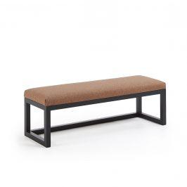 Tmavě hnědá čalouněná lavice LaForma YOLA