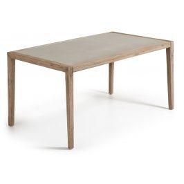 Šedý dřevěný zahradní jídelní stůl LaForma Corvette 160 x 90 cm