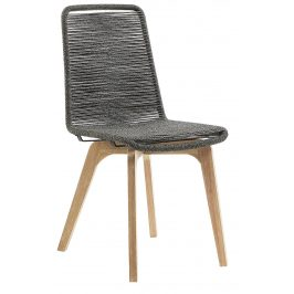 Šedá pletená jídelní židle LaForma Glendon