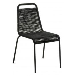 Černá pletená jídelní židle LaForma Glenville